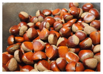 甘味が強く大粒な能勢の栗の100%